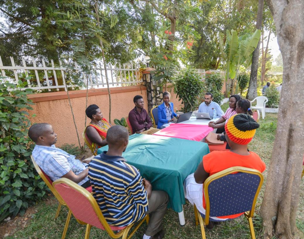 Nesta and E4I facilitating a focus group with end-users in Masaka, Uganda