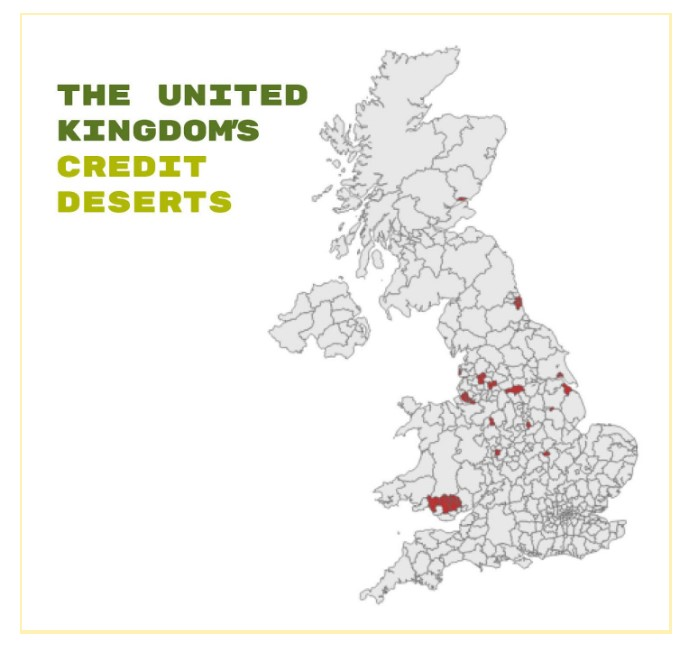 Mao of the UK credit desert areas