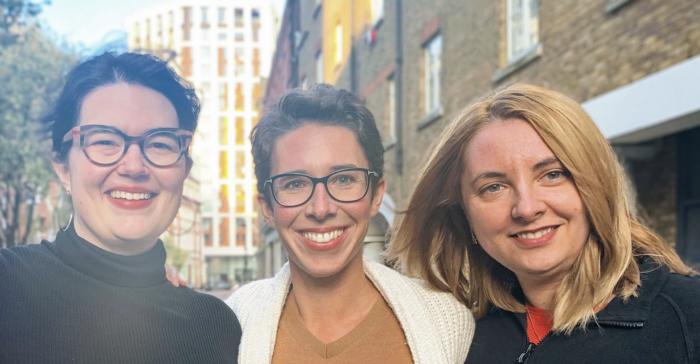 Touco Lab's three founders, Bailey Kursar, Emily Trant and Evelina Vrabie