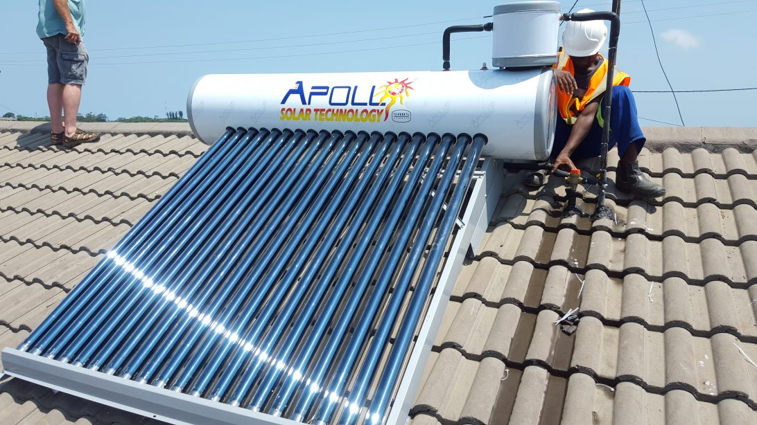 Clean technology, like these solar water heaters implemented on social housing in UN-Habitat's Urban-LEDS project in South Africa, is vital, but innovations in process, governance and stakeholder relations are as important to deploy technology at scale.